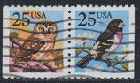 USA 1981-1980 D  gestempelt waagrechtes Paar