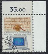 BRD 1224 gestempelt mit Eckrand rechts oben