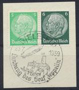 DR W69 (515+516) gestempelt auf Briefstück