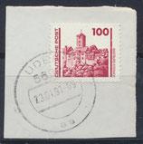 DDR 3350 gestempelt auf Briefstück