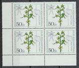 BERL 724-727 postfrisch Viererblocksatz mit Eckrand links unten