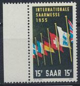 SAAR 359 postfrisch mit Bogenrand links
