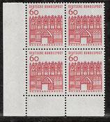 BRD 459 postfrisch Viererblock mit Eckrand links unten