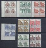 BRD 454-461  gestempelt Viererblocksatz
