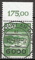 BERL 671 gestempelt mit Bogenrand oben (RWZ 175,00)