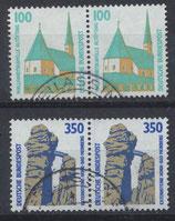 1406-1407 gestempelt waagrechte Paare (BRD)