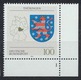 BRD 1716 postfrisch mit Bogenrand rechts unten