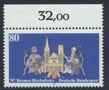 BRD 1329 postfrisch mit Bogenrand oben