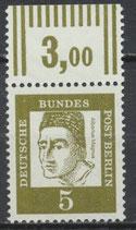 199 postfrisch Bogenrand oben (RWZ 3,00) (BERL)