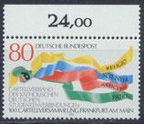 BRD 1283 postfrisch mit Bogenrand oben