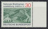 BRD 619 postfrisch mit Bogenrand rechts
