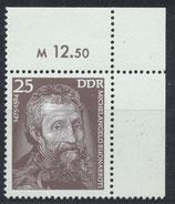 DDR 2028 postfrisch mit Eckrand rechts oben