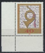 BRD 738 postfrisch mit Eckrand links unten