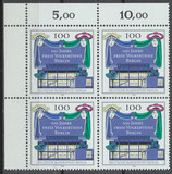 866 Viererblock mit Eckrand links oben (RWZ) (BRD)