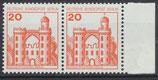 BERL 533 postfrisch waagrechtes Paar mit Bogenrand rechts