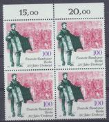 872 postfrisch Viererblock Bogenrand oben (RWZ) (BERL)