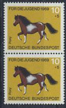 BRD 578 postfrisch senkrechtes Paar