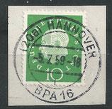 BRD 303 gestempelt auf Briefstück