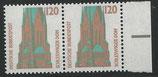 1375   postfrisch  waagrechtes paar mit Bogenrand rechts (BRD)