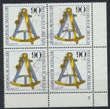 BRD 1093 gestempelt Viererblock mit Eckrand rechts unten