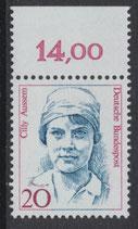 BRD 1365 postfrisch mit Bogenrand oben