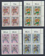 BRD 650-653 postfrisch Viererblock mit Eckrand rechts oben