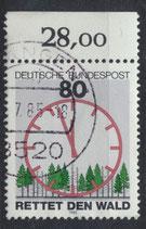 BRD 1253 gestempelt mit Bogenrand oben