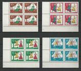 BRD 485-488 postfrisch Viererblocksatz mit Eckrand links unten
