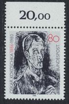BRD 1272 postfrisch mit Bogenrand oben