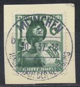 DR 644 gestempelt auf Briefstück