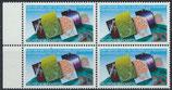 BRD 1187 postfrisch Viererblock mit Bogenrand links