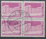 BERL 141 gestempelt Viererblock
