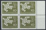 BRD 367x postfrisch Viererblock mit Bogenrand rechts