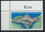 BRD 1739 postfrisch mit Eckrand links oben
