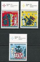 BRD 3522-3524 postfrisch mit Bogenrand oben