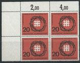 BRD 405 postfrisch mit Eckrand links oben