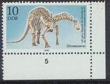 DDR 3324 postfrisch Eckrand rechts unten