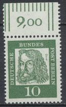 202 postfrisch Bogenrand oben (RWZ 9,00) (BERL)