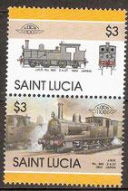 828-829 postfirsch (St. Lucia Eisenbahn)