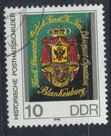 DDR 3302  philat. Stempel