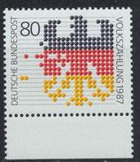 BRD 1309 postfrisch mit Bogenrand unten