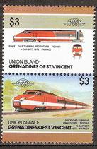 206-207 postfrisch (St. Vincent / Grenadinen Union Island Eisenbahn)
