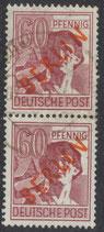 BERL 31 gestempelt senkrechtes Paar
