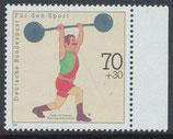 BRD 1499 postfrisch mit Bogenrand rechts