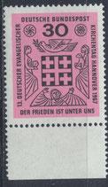 BRD 536 postfrisch mit Bogenrand unten