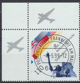 BRD 2048 gestempelt mit Bogenrand links oben