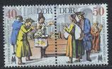 DDR 3120-3121 postfrisch Zusammendruck