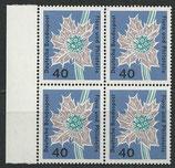 BRD 395 postfrisch Viererblock mit Bogenrand links