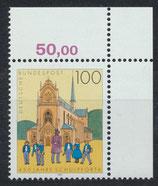 BRD 1675 postfrisch mit Eckrand rechts oben