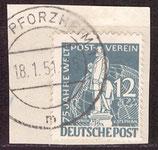 BERL 35 gestempelt auf Briefstück